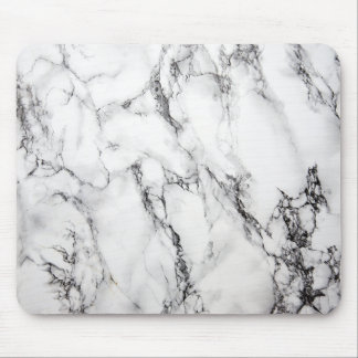 Grain noir en pierre de marbre gris tapis de souris