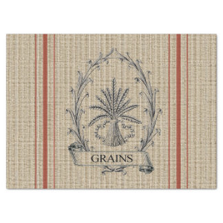 Grain Sack with Red Stripes Tissue Paper