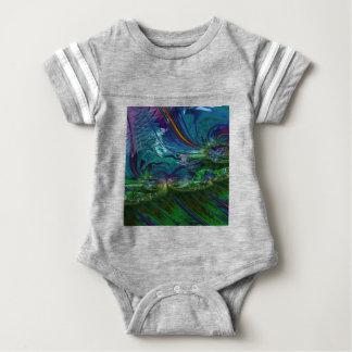 Grained Festiveness Fractal 5 Baby Bodysuit