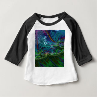Grained Festiveness Fractal 5 Baby T-Shirt