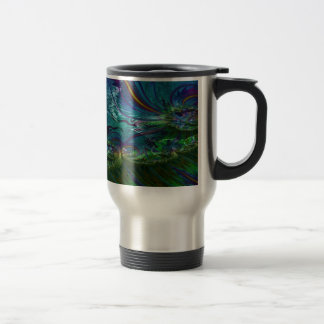 Grained Festiveness Fractal 5 Travel Mug