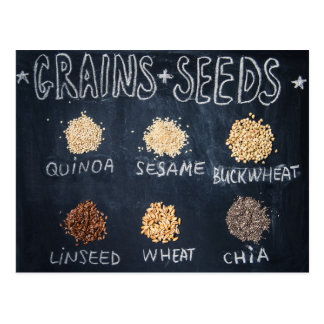 Grains and seeds postcard
