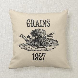 Grains Vintage Style Farmhouse Throw Pillow