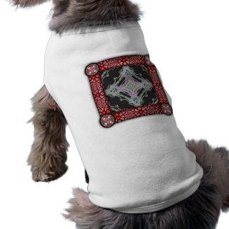 Grainy Elegant Design Inverted Dog T-shirt