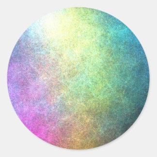 Grainy Rainbow Abstract Classic Round Sticker