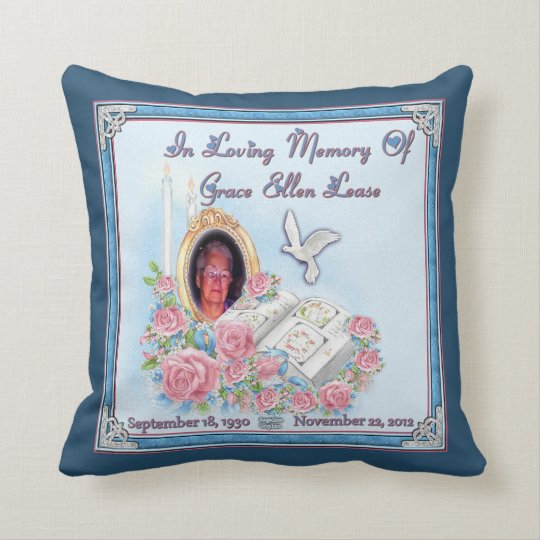 Gram Mancuso and MomMom Lease Memorial Pillows