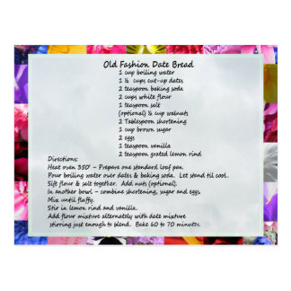 GramaBarb's Date Loaf Recipe Postcard