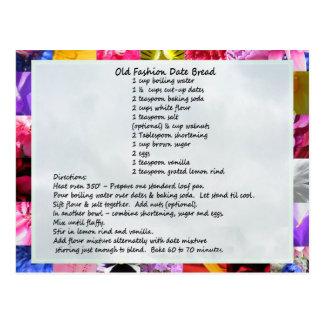 GramaBarb's Date Loaf Recipe Postcard