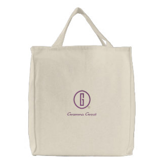 Gramma Great s Embroidered Tote Bag