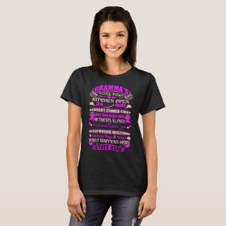 Gramma House Rules Kitchen Open 24 Hours Tshirt