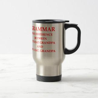 grammaire mug de voyage en acier inoxydable