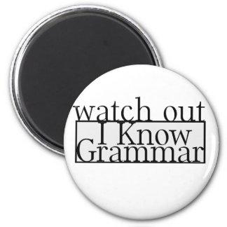Grammar 2 Inch Round Magnet