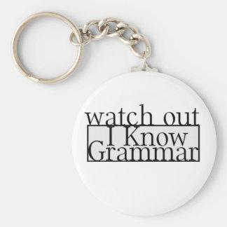 Grammar Basic Round Button Keychain