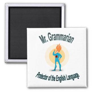 Grammar Fanatic Superhero Magnet