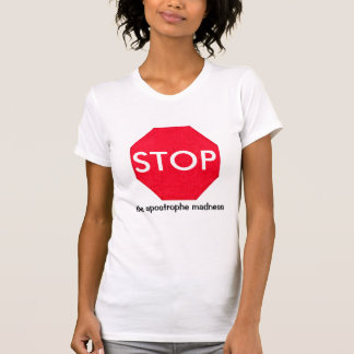 Grammar Guru Stop Sign Tees