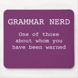 Grammar nerd mouse pad