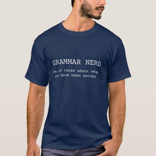 Grammar Nerd t-shirt