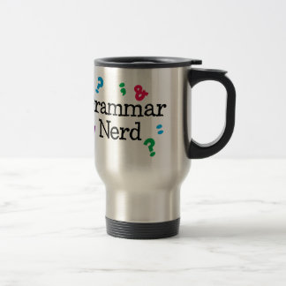 Grammar Nerd Travel Mug