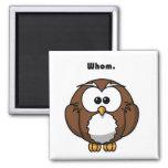 Grammar Owl Whom Cartoon Refrigerator Magnets