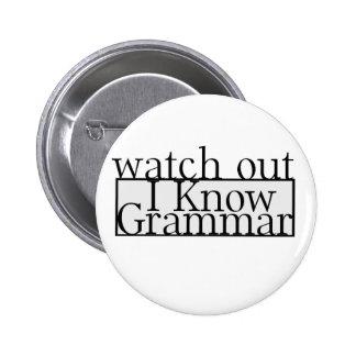 Grammar Pinback Button