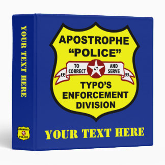 Grammar Police Apostrophe Binder