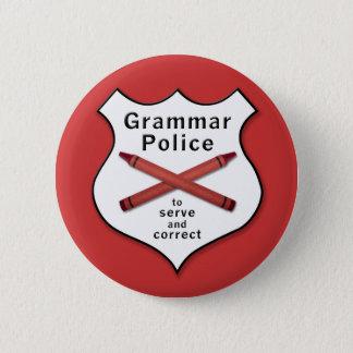 Grammar Police Badge 2 Inch Round Button