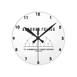 Grammar Police (Buffalo 8 Times Correct Sentence) Clock