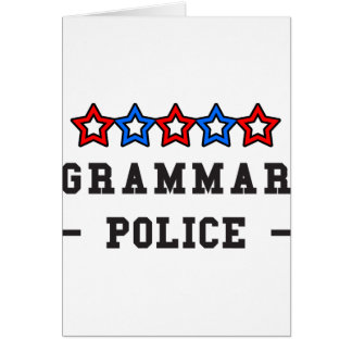 Grammar Police Card