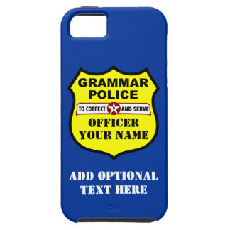 Grammar Police Customizable iPhone Case