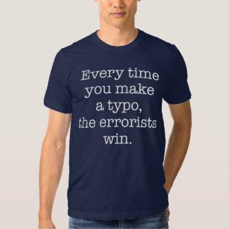 Grammar Police Funny Typo Dark Tee