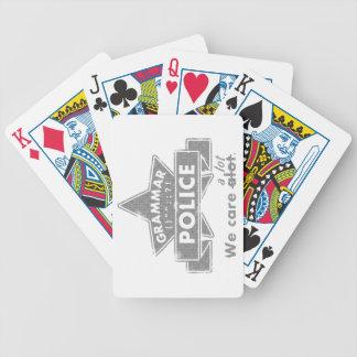 Grammar Police Poker Deck