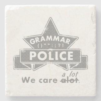 Grammar Police Stone Coaster