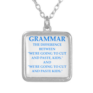GRAMMAR SILVER PLATED NECKLACE