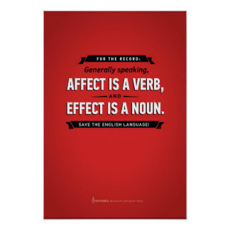 Grammarly Affect/Effect Poster