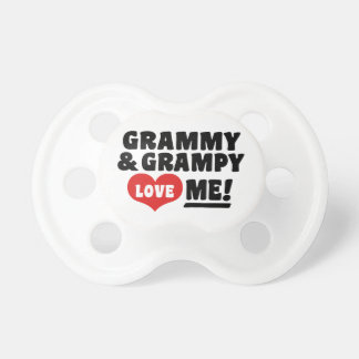 Grammy And Grampy Love Me Baby Pacifiers