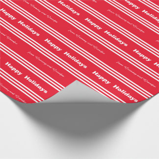 Grammy Grandpa Candy Cane  Christmas Gift Wrapping Wrapping Paper