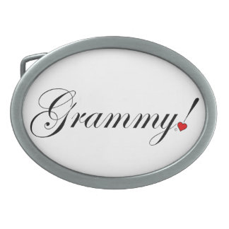 Grammy! Oval Belt Buckle