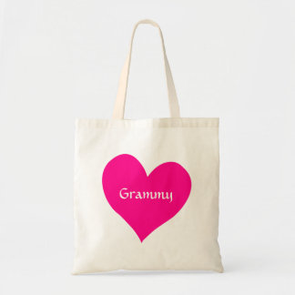 Grammy Pink Heart Tote Bag