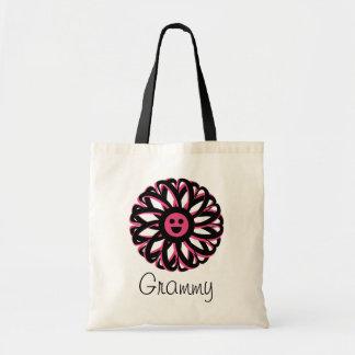 Grammy Pretty Flower Tote Bag