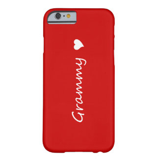 Grammy rouge avec le coeur coque iPhone 6 barely there