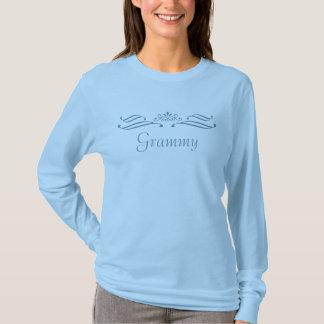 Grammy Tiara Scroll Blue Long Sleeve T-Shirt
