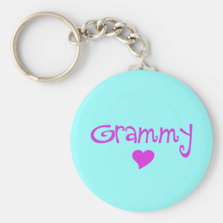 Grammy With Heart Keychain