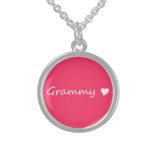 Grammy With Heart Sterling Silver Necklace