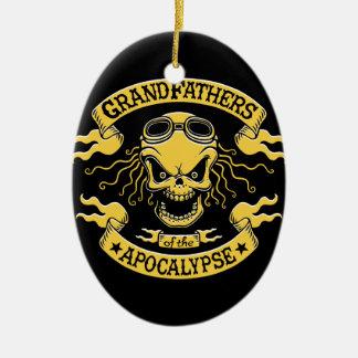 Gramps of the Apocalypse Ceramic Oval Ornament
