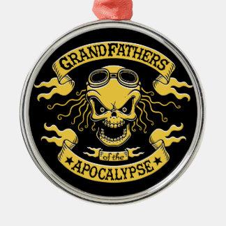 Gramps of the Apocalypse Metal Ornament
