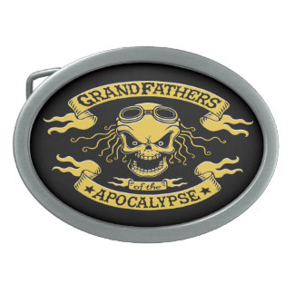 Gramps of the Apocalypse Oval Belt Buckle