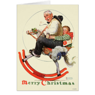 Gramps on Rocking Horse Card