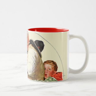Gramps on Rocking Horse Two-Tone Coffee Mug