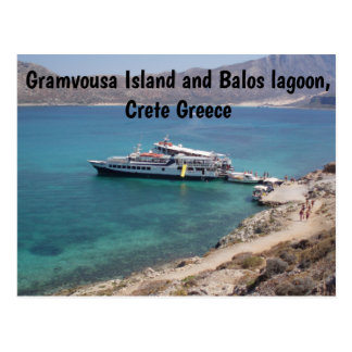 Gramvousa Island and Balos lagoon Crete, Greece Postcard