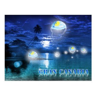 Gran Canaria blue postcard